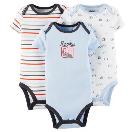 6f61475f9d Child of Mine made by Carter s 3-Pack Newborn Boy Bodysuits