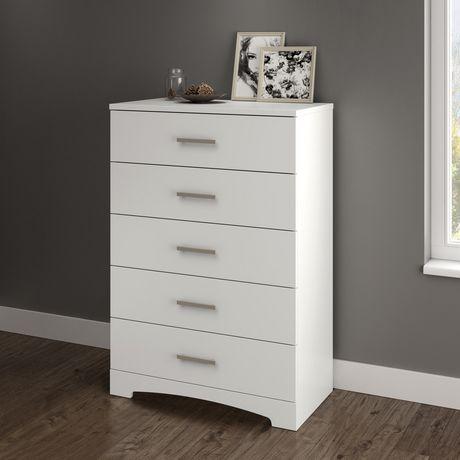 Commode 5 tiroirs gramercy de meubles south shore for Meubles maple