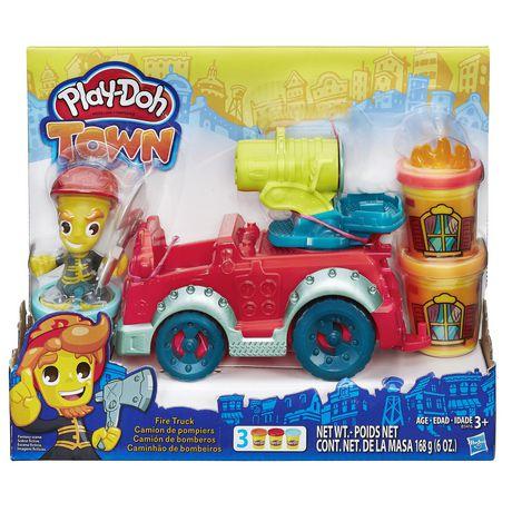 Play Doh Town Fire Truck Playset Walmart Ca