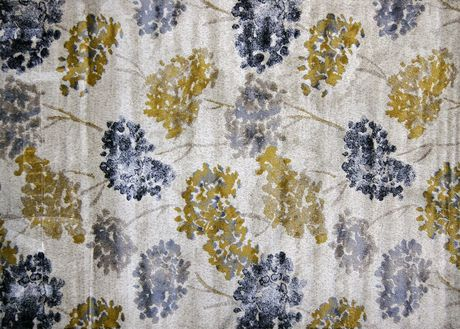 Home Trends 5x7 Ft Area Rug Grey Yellow Floral Walmart Ca