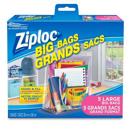 Ziploc 174 Big Bags 5 Large Walmart Canada