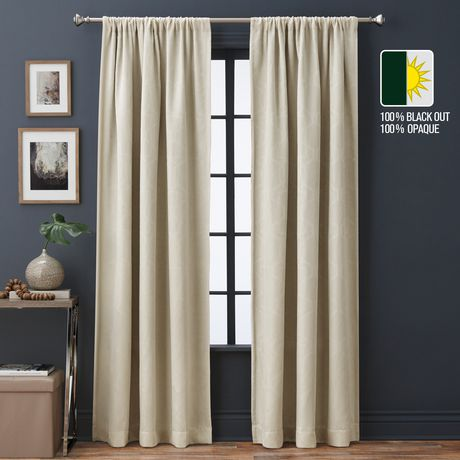 Hudson Blackout Jacquard Window Panel Drape with Bronze Grommets 52 X 84 In
