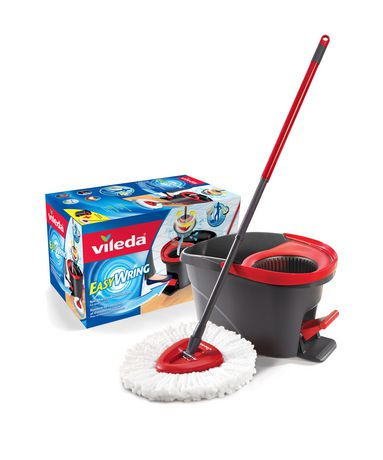 Vileda Easy Wring Spin Mop & Bucket System Red