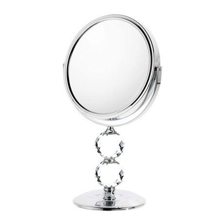 Danielle magnifying double crystal ball mirror for Miroir danielle