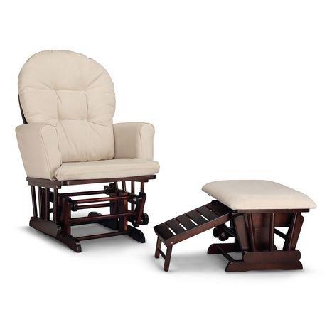 Chaise ber ante semi rembourr e et tabouret d allaitement for Chaise bercante allaitement