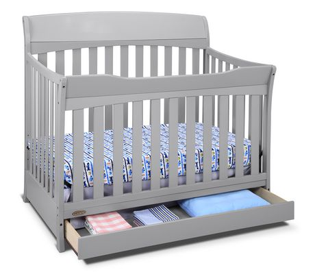 graco lennon 4 in 1 convertible crib with drawer pebble gray. Black Bedroom Furniture Sets. Home Design Ideas