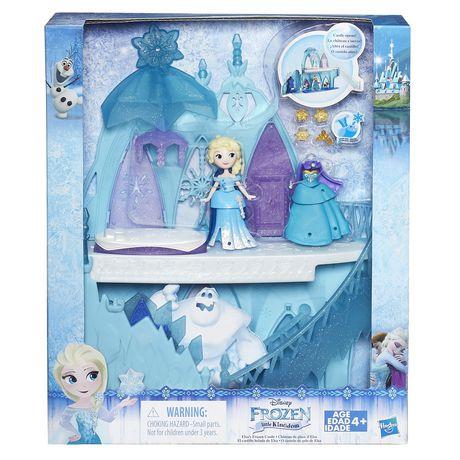 Ch teau de glace d elsa mini royaume de la reine des for Chateau de glace reine des neiges