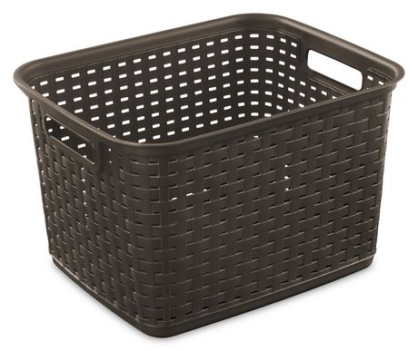 Sterilite Tall Wicker Brown Weave Basket Walmart Ca