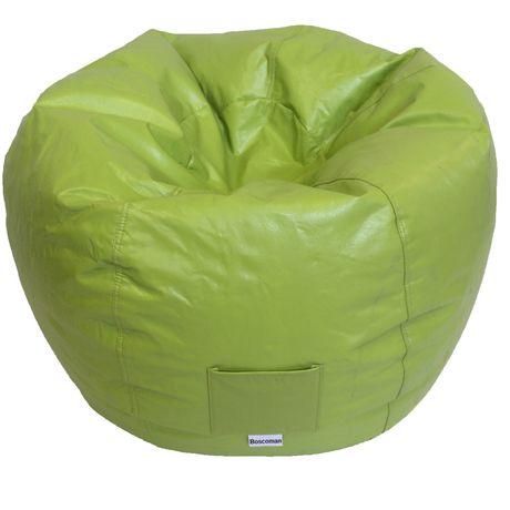 boscoman adult round vinyl beanbag chair. Black Bedroom Furniture Sets. Home Design Ideas