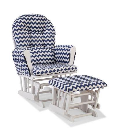 Chaise ber ante avec tabouret comfort de storkcraft for Chaise bercante walmart