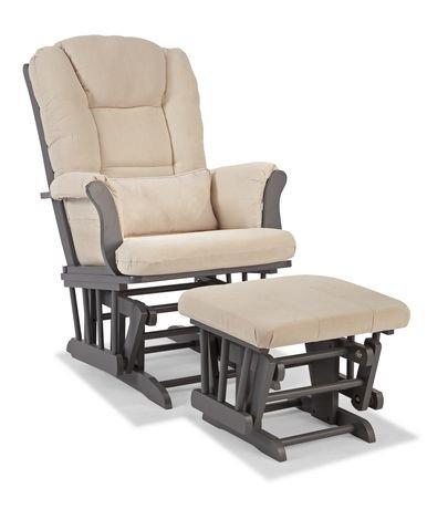 Chaise ber ante haut de gamme avec tabouret de storkcraft for Chaise bercante walmart