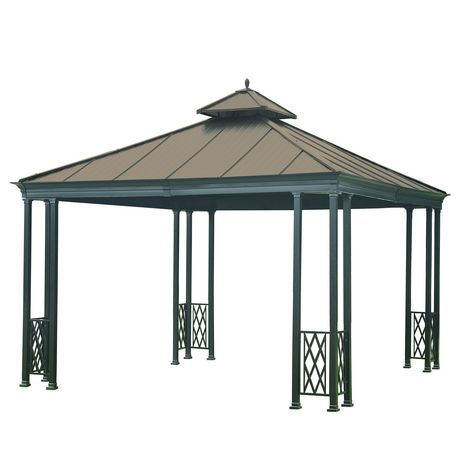 sunjoy waterford 12 39 x12 39 gazebo copper color top