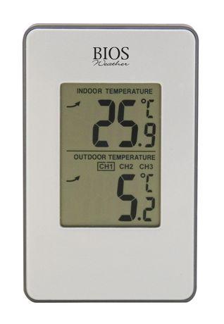 Thermom tre int rieur ext rieur sans fil de bios - Thermometre interieur precis ...