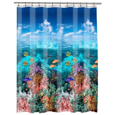 Under The Sea Peva Shower Curtain Walmart Ca