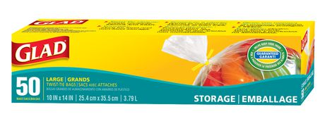 Glad 174 Storage Bags With Twist Ties Walmart Ca
