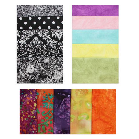 Ens tissu en coton fat quarter de fabric creations walmart canada - Achat de tissus en ligne canada ...