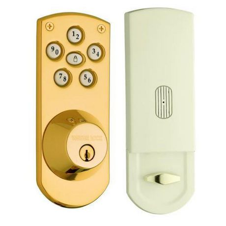 Weiser Polished Brass Electronic Deadbolt Walmart Ca