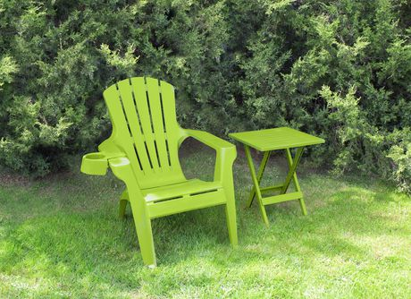 Gracious living plastic chairs gracious living white for Chaise adirondack canadian tire