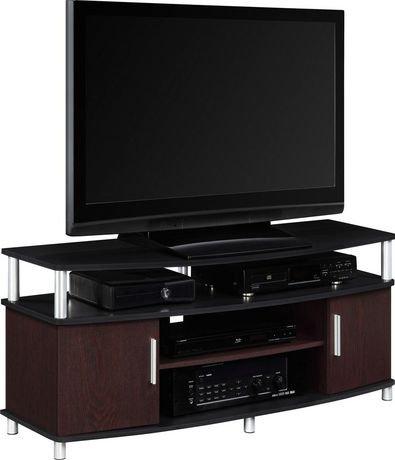 Dorel meuble pour t l viseur carson for Meuble pour televiseur