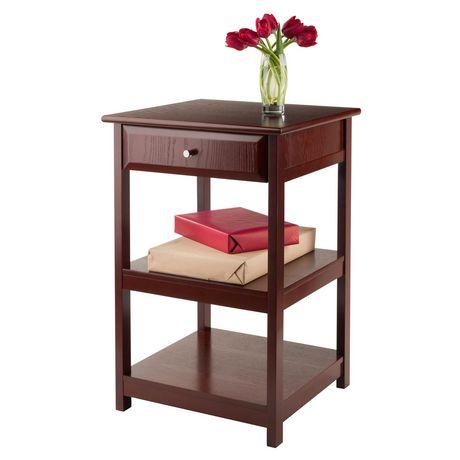 table pour imprimante delta de winsome en noyer 94121. Black Bedroom Furniture Sets. Home Design Ideas