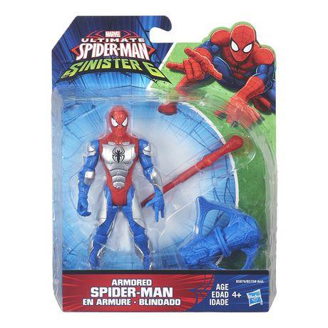 figurine articul e spider man en armure 6 po 15 cm. Black Bedroom Furniture Sets. Home Design Ideas