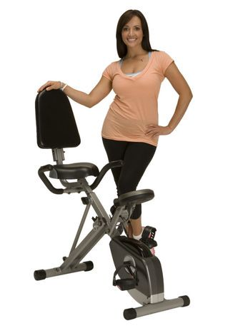 Exerpeutic 400 Xl Folding Recumbent Bike With Pulse by Exerpeutic