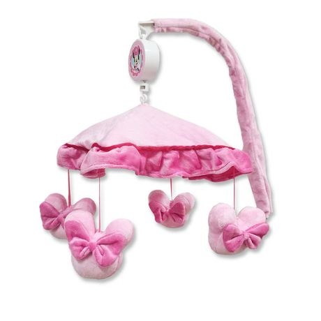 Minnie mouse pretty in gingham musical mobile - Minnie mouse mobel ...