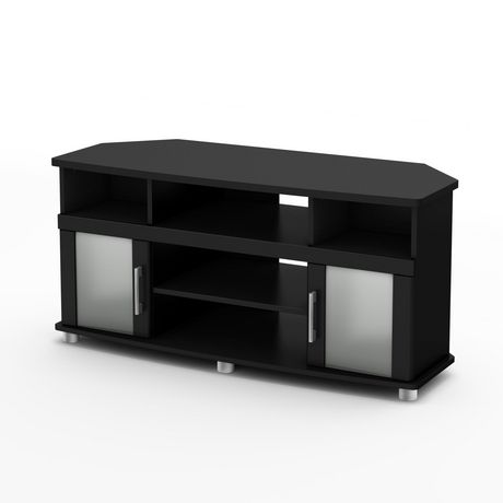 south shore city life corner tv stand for tvs up to 50. Black Bedroom Furniture Sets. Home Design Ideas