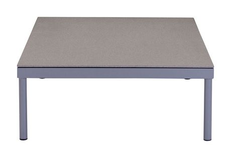 Zuo Modern Outdoor 1 Piece Granite Coated And Tempered Glass Grey Sand Beach Coffee Table