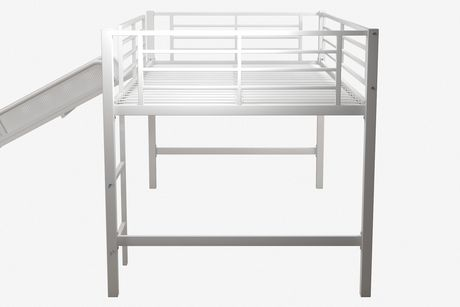 dhp lit mezzanine jumeau avec toboggan pour enfants blanc walmart canada. Black Bedroom Furniture Sets. Home Design Ideas