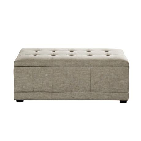 Wyndenhall norwood rectangular storage ottoman bench for Storage ottoman walmart