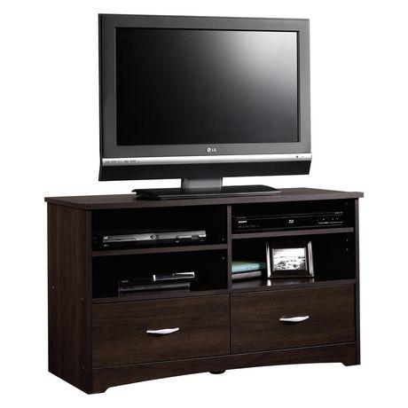 Sauder beginnings panel tv stand cinnamon cherry finish 413045 at - Nouveau concept meuble ...