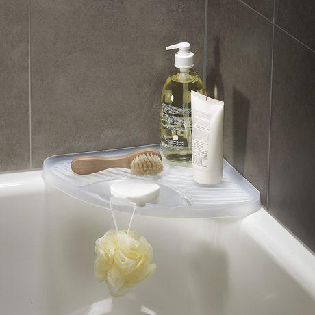 Tag re de coin blanche pour baignoire de loft - Etagere de baignoire ...