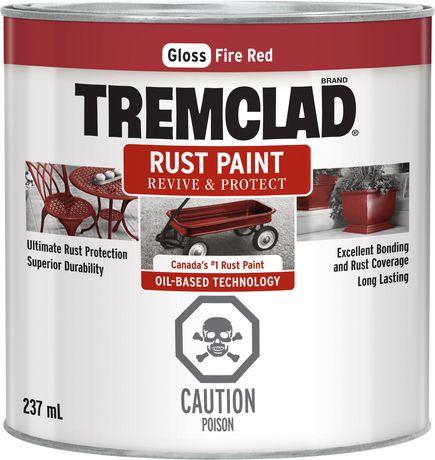 tremclad rust paint fire red 237ml