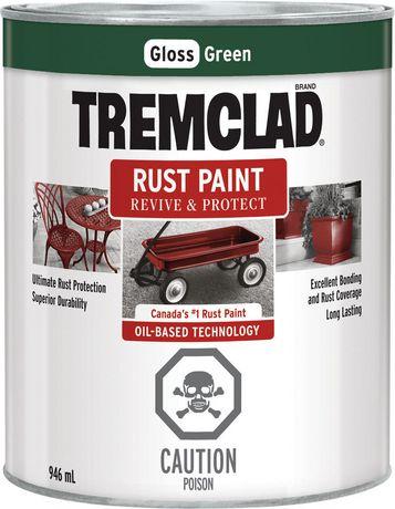 tremclad rust paint green 946ml