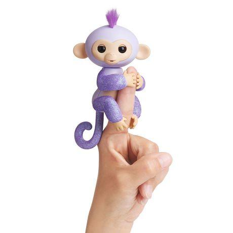 Fingerlings Kiki Baby Glitter Monkey Toy Lr44