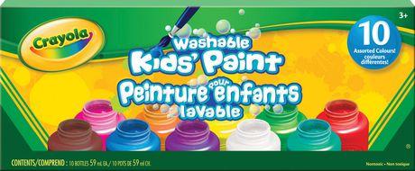10 washable paint jars