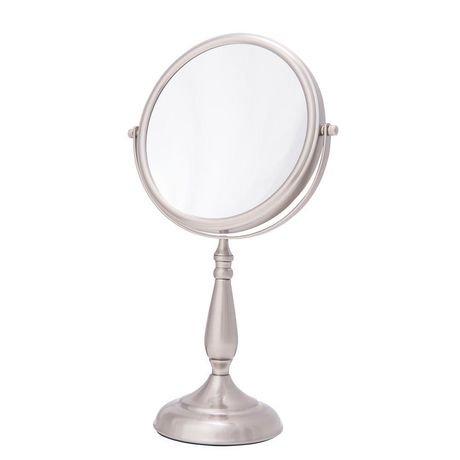 Miroir de coiffeuse nickel satin de danielle walmart canada for Miroir danielle