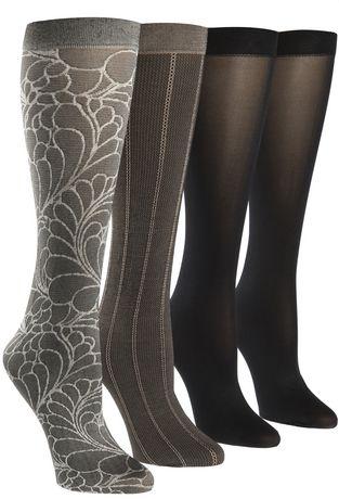 Happy Foot By Mcgregor Womens 4 Pair Trouser Socks