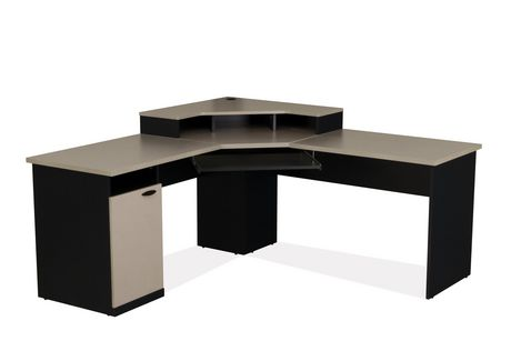 bureau en coin hampton de bestar. Black Bedroom Furniture Sets. Home Design Ideas