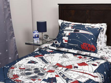 ens douillette star wars de la collection vehicle en coton pour lit simple. Black Bedroom Furniture Sets. Home Design Ideas