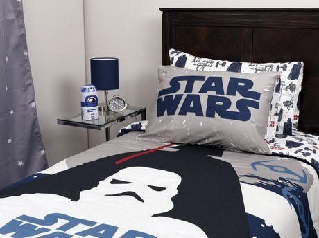 ensemble de douillette star wars de la collection dark side en coton pour lit simple. Black Bedroom Furniture Sets. Home Design Ideas