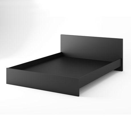 Stellar Home Furniture Euro Collection Queen Size Black Platform Bed Headboard