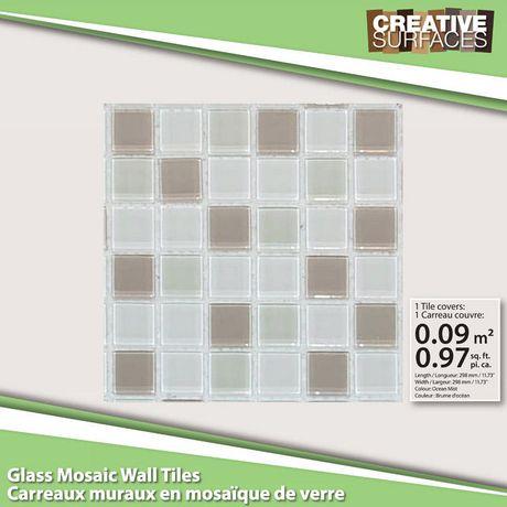 Creative surfaces carreaux muraux en mosa que de verre for Carreaux muraux