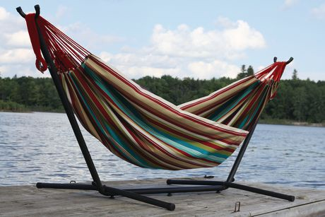 vivere 39 s combo double hamac avec support 8 pi walmart canada. Black Bedroom Furniture Sets. Home Design Ideas
