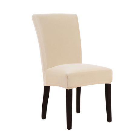 Housse extensible velours chaise de salle manger for Chaise de salle a manger velours