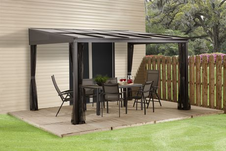 Sojag pompano wall mounted gazebo for Abri mural hardtop gazebo