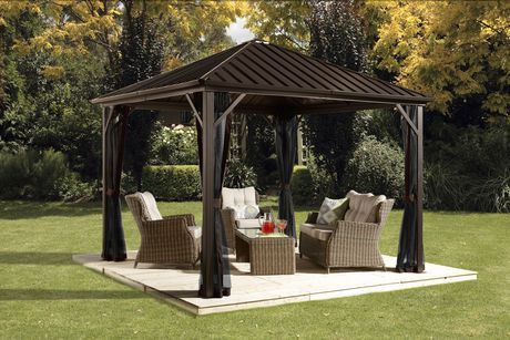 Sojag dakota gazebo walmart canada for What size ceiling fan for a 12x12 room