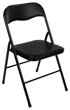 cosco vinyl black folding chair walmart canada. Black Bedroom Furniture Sets. Home Design Ideas