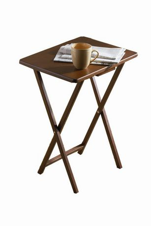 Single Tray Table Color Walnut Walmart Ca